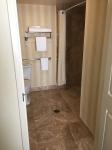 Roll-in shower in bedroom #1