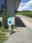 Ramp access at Sandbanks Winery