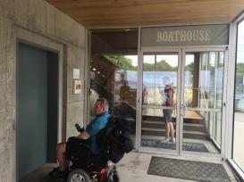 Boathouse Restaurant elevator