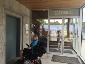 Boathouse Restaurant elevator