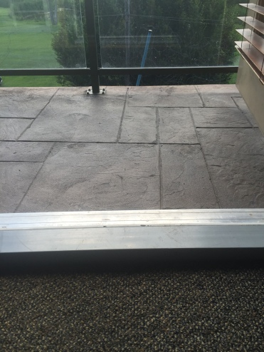 Accessible room balcony not accessible
