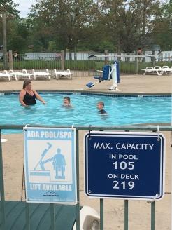 Pool Lift at hotel