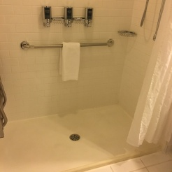 Hotel Room Roll-in Shower