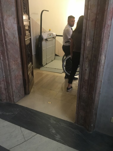 Elevator lift to Sistine Chapel